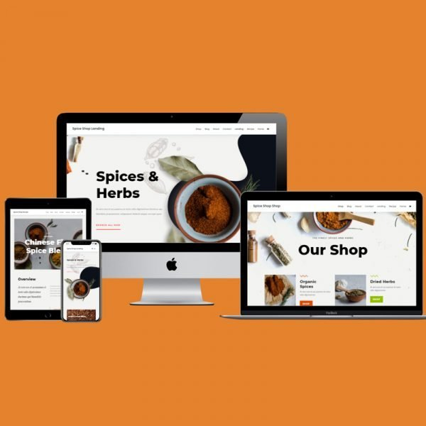 The Spice Shop layout pack is a bursting with powerful imagery and clean layouts, perfect for promoting those spices!
